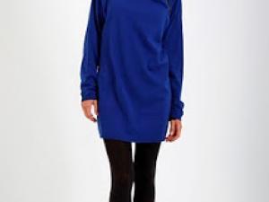 Robe pull bleu electrique