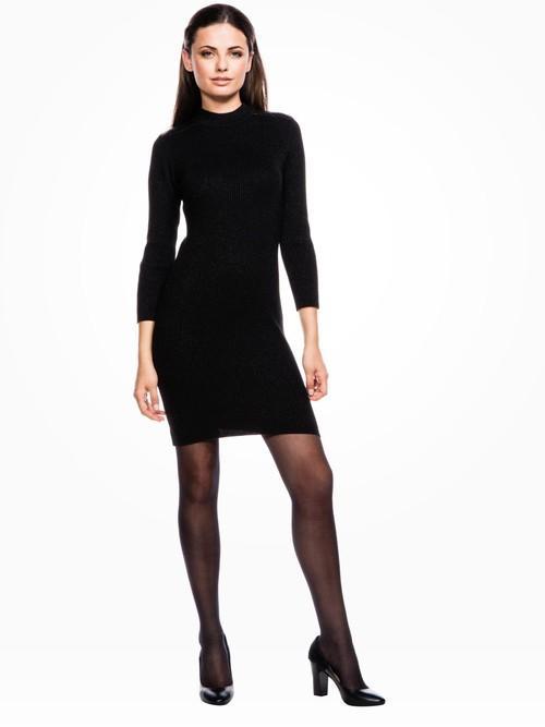 Robe pull noir moulante