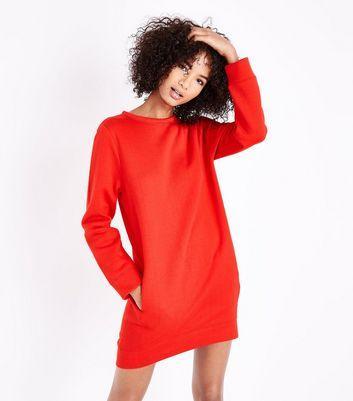 Robe pull rouge femme