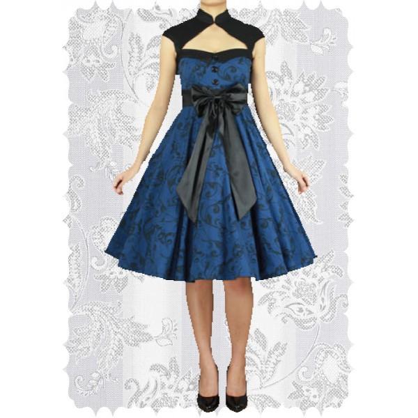 Robe rockabilly bleu