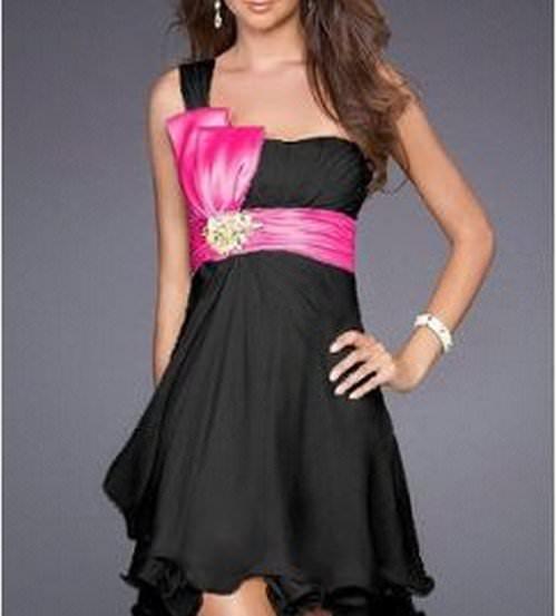 Robe rose et noir