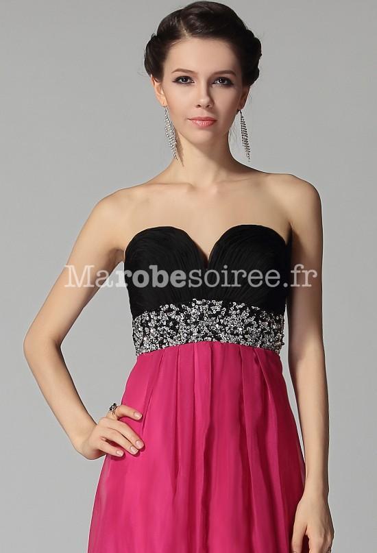 Robe rose fushia et noir
