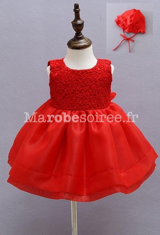 Robe rouge bebe fille