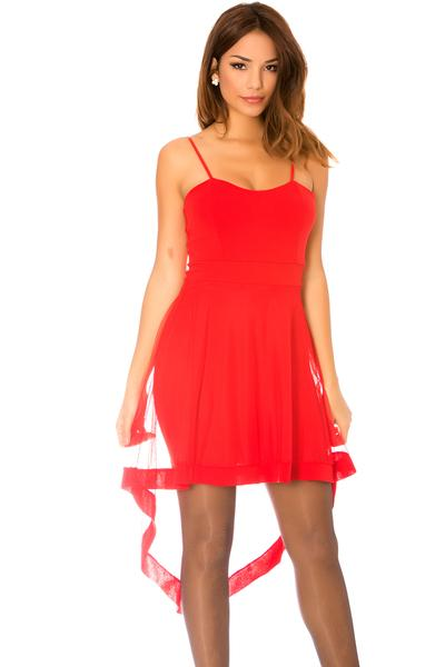 Robe rouge bretelle
