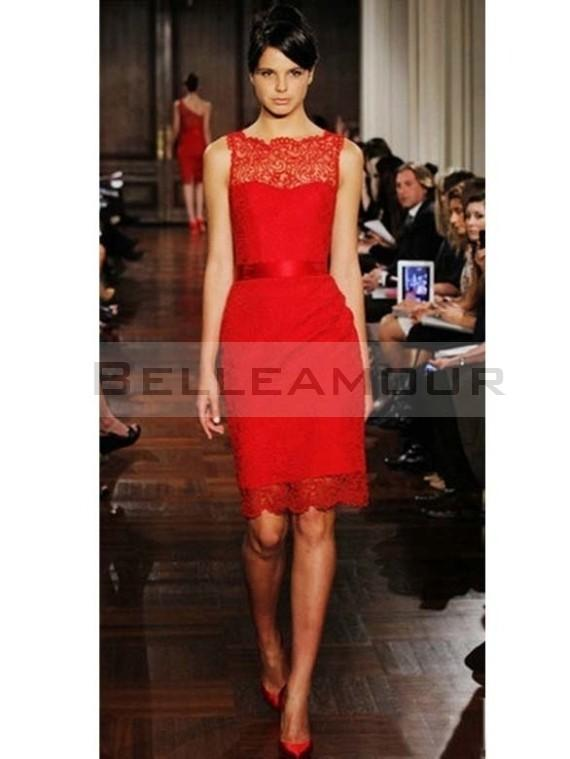 Robe rouge chic