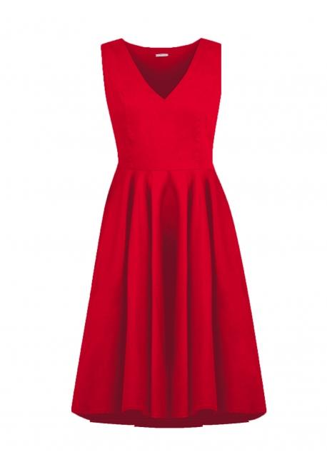 Robe rouge cintrée