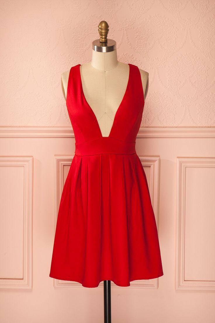 Robe rouge coquelicot