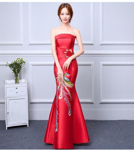 Robe rouge de mariage
