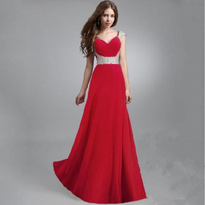 Robe rouge de soiree