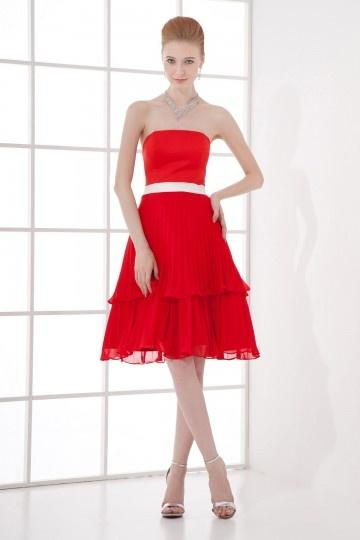 Robe rouge et blanc