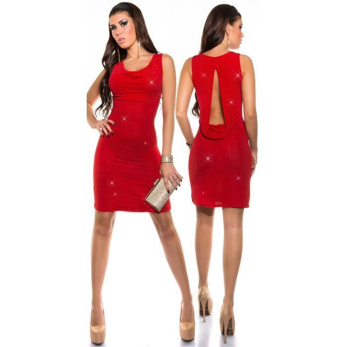 Robe rouge et blanche femme