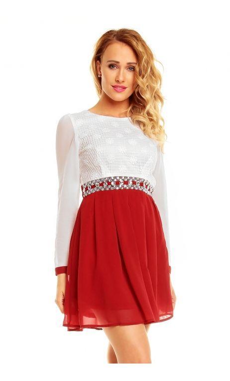 Robe rouge et blanche pas cher