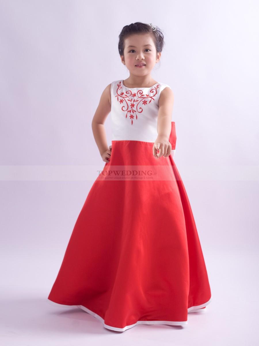 Robe rouge et blanche pour mariage