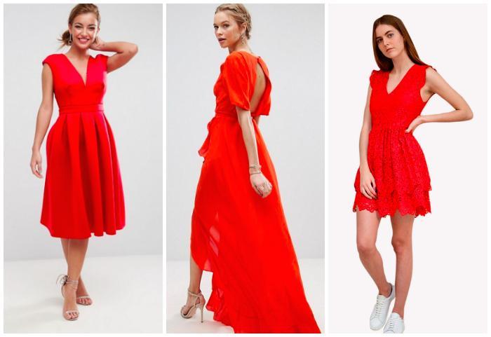 Robe rouge invitée mariage