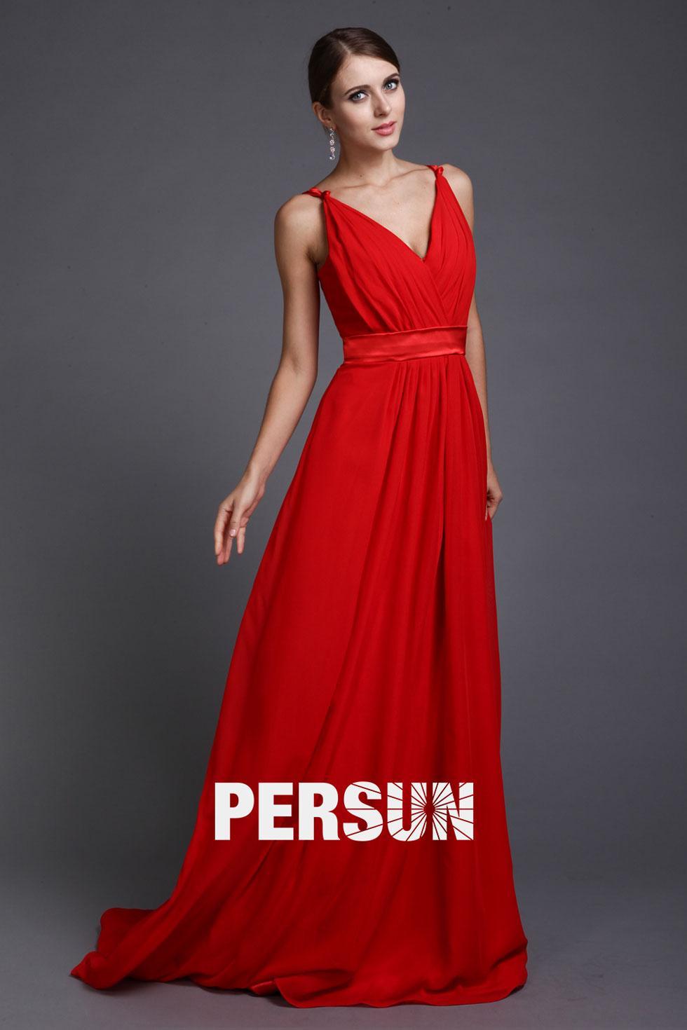 Robe rouge longue pas cher
