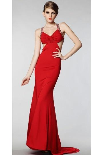 Robe rouge longue soiree