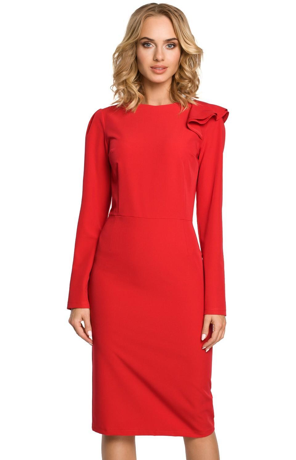 Robe rouge manche longue