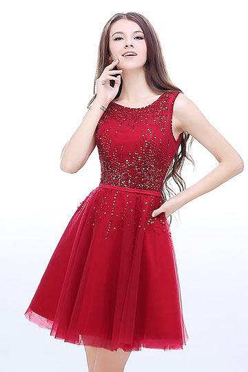 Robe rouge paillette