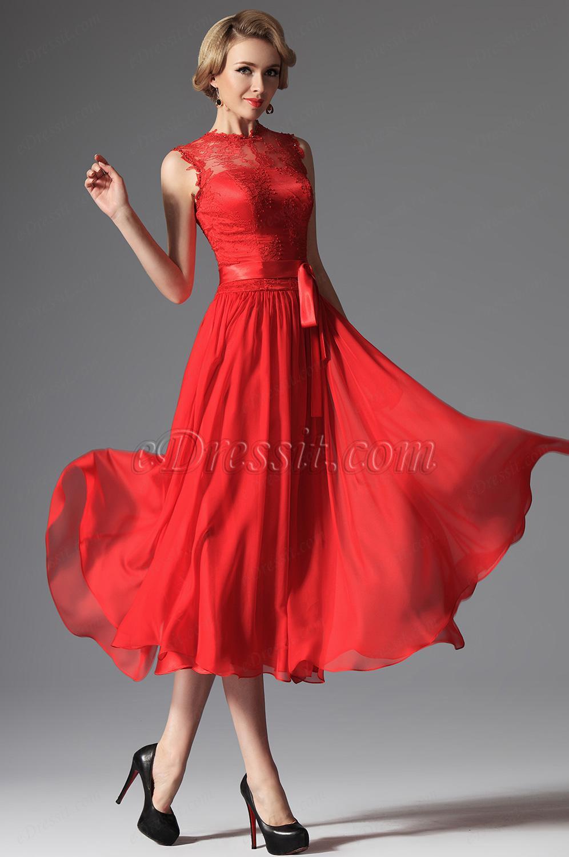 Robe rouge pas cher soirée