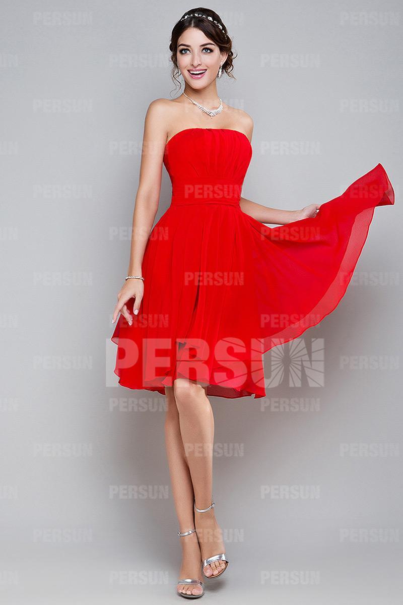 Robe rouge pour mariage pas cher