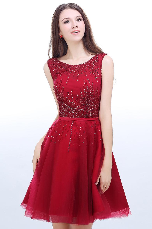Robe rouge soirée courte
