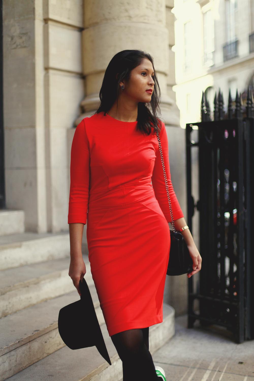Robe rouge soirée zara