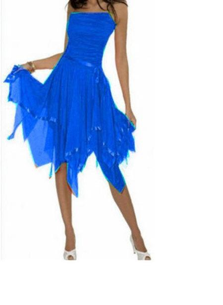 Robe salsa bleu