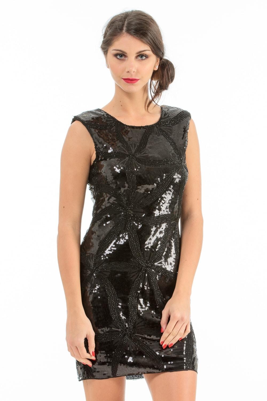 Robe sequin noir