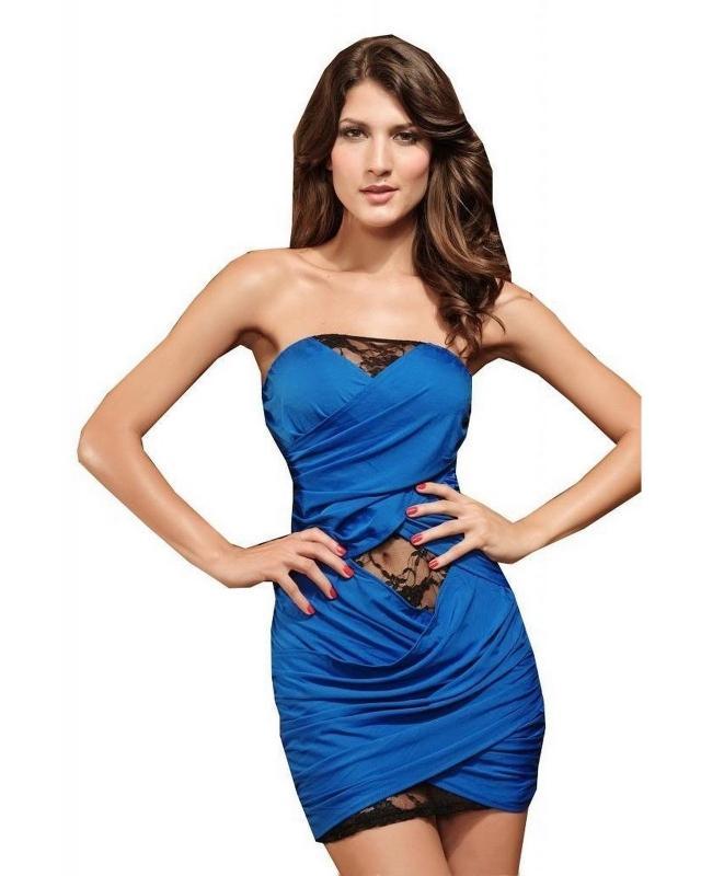 Robe sexy bleu