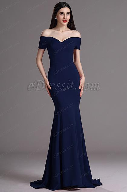 Robe sirene bleu marine