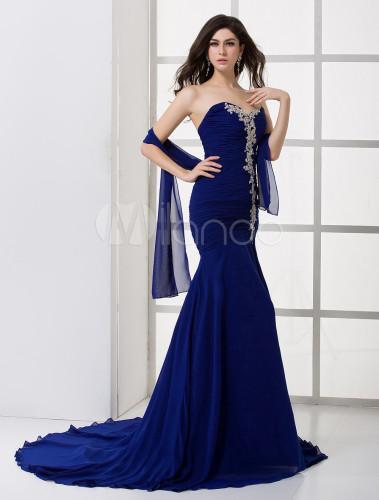 Robe sirene bleu