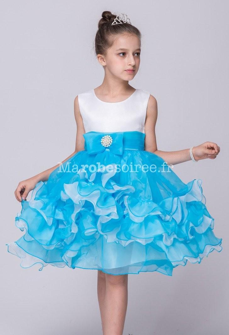 Robe soirée enfant bleu