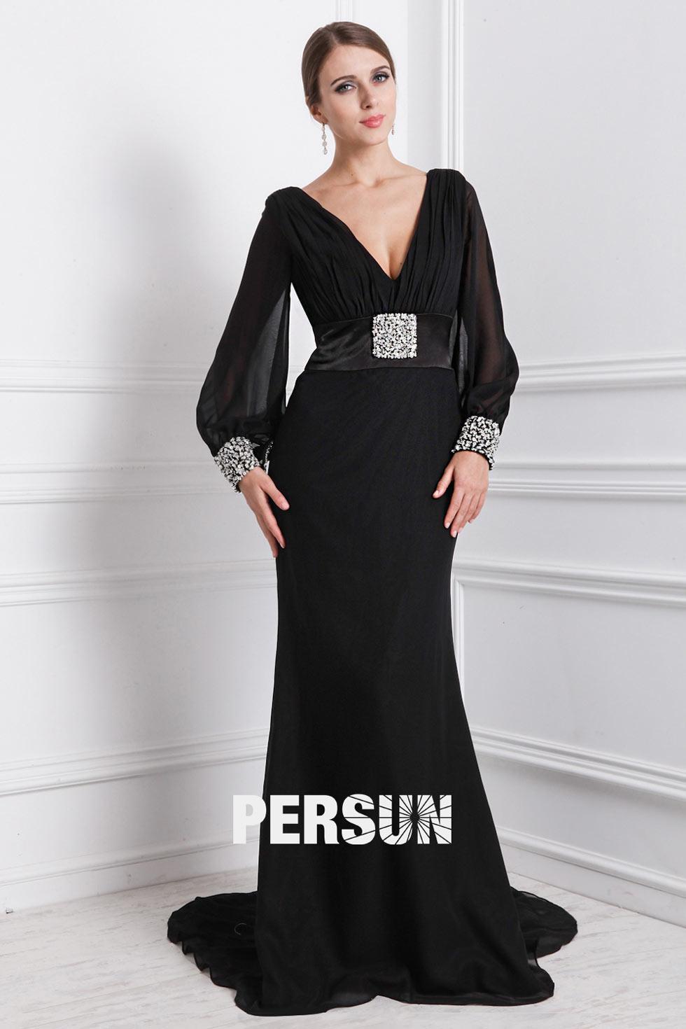 Robe soire noir