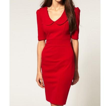 Robe tailleur rouge