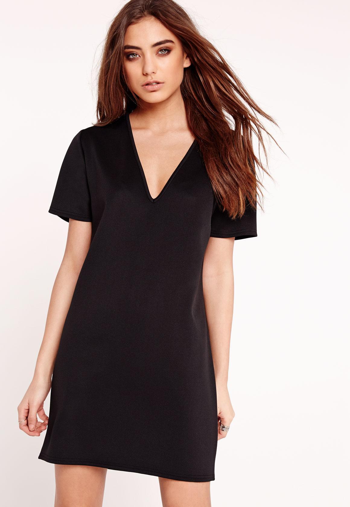 Robe tee shirt noir