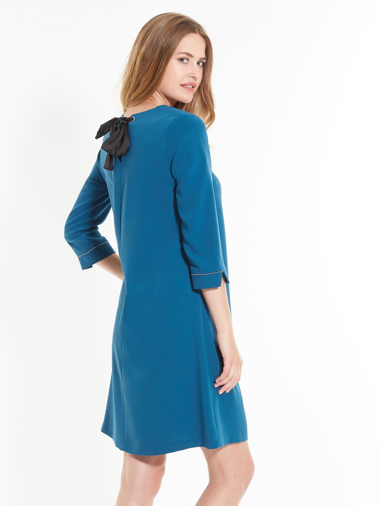 Robe trapeze bleu