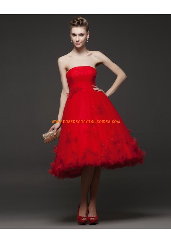 Robe tulle rouge