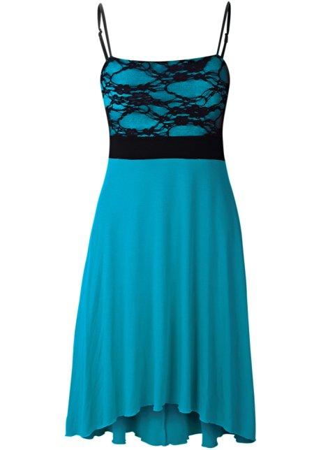 Robe turquoise et noir