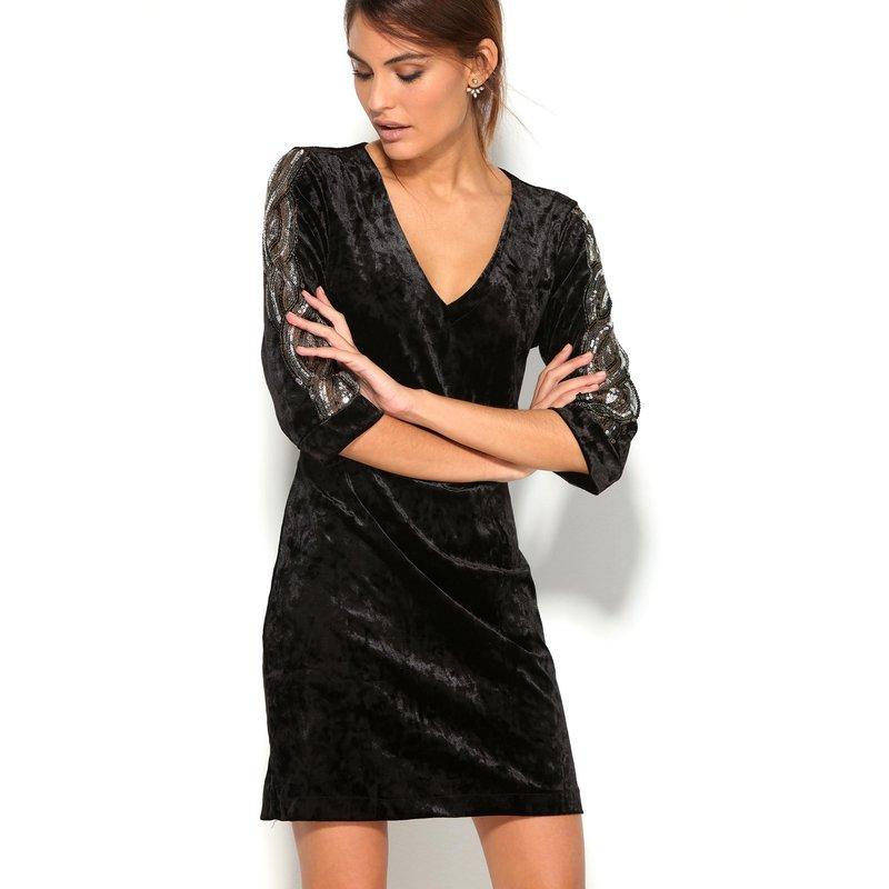 Robe velour noir