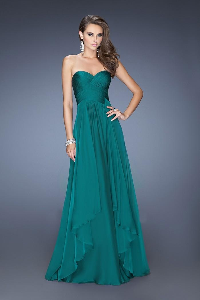 Robe vert bleu