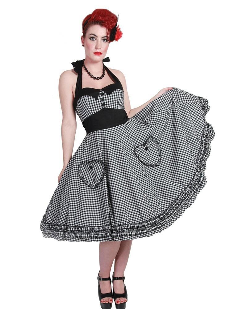 Robe vichy noir et blanc