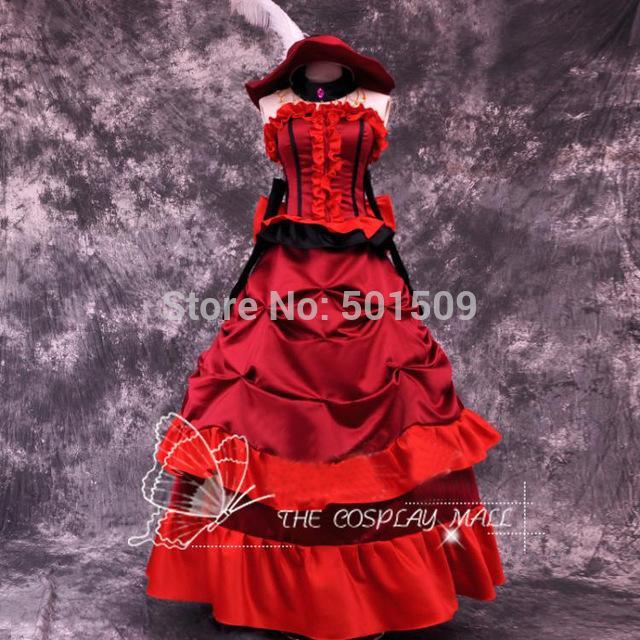 Robe victorienne rouge