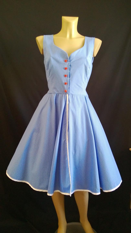Robe vintage bleu