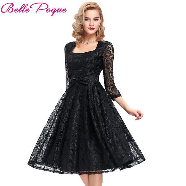 Robe vintage dentelle noir