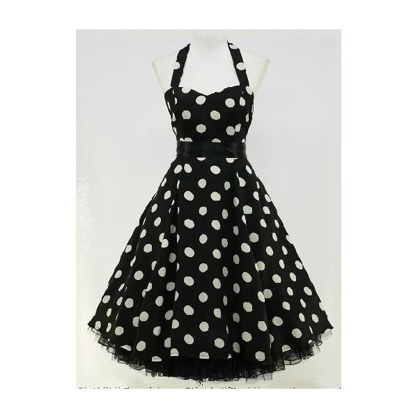 Robe vintage noir et blanc