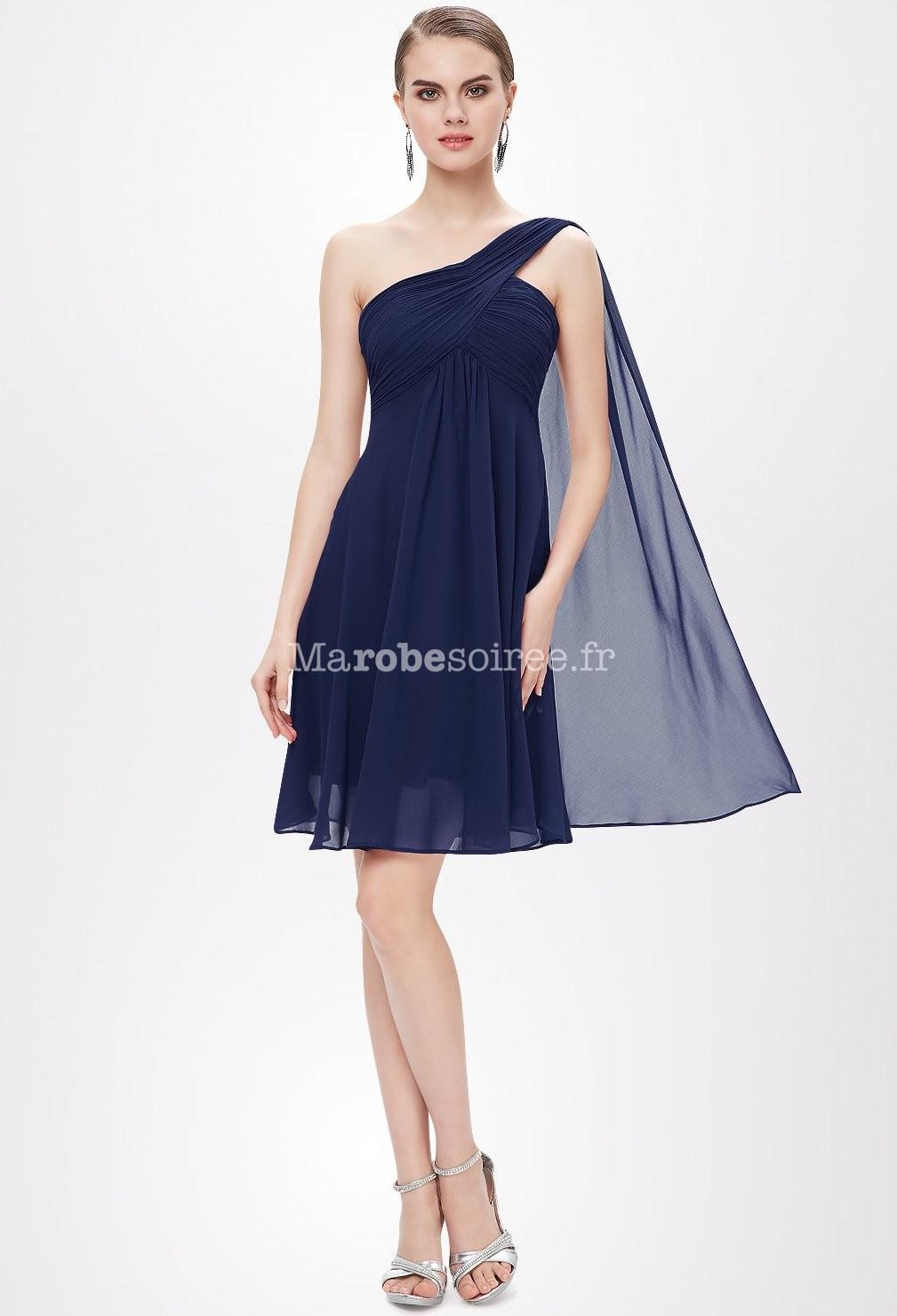 Robe voile bleu