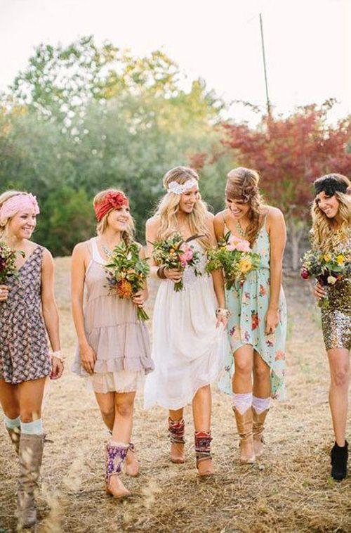 Tenue hippie chic pour mariage