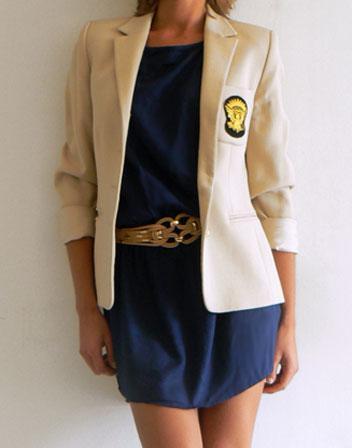 Veste avec robe bleu marine