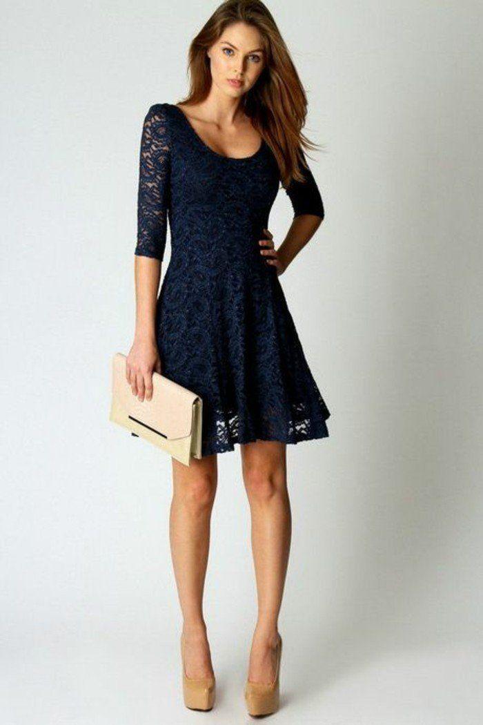 Veste pour robe bleu marine